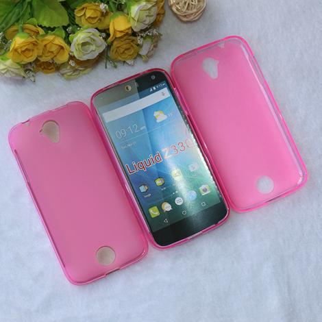 Silikonové pouzdro na mobilní telefon Acer Liquid Z330 růžové (Silikonový kryt či obal na mobilní telefon Acer Liquid Z330)