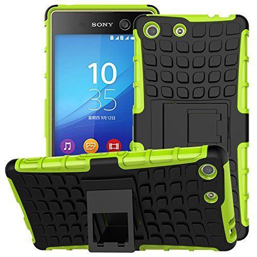 Odolné pouzdro PANZER CASE na mobilní telefon Sony Xperia Z3 Compact Zelené (Odolný kryt či obal na mobil Sony Xperia Z3 Compact se stojánkem)
