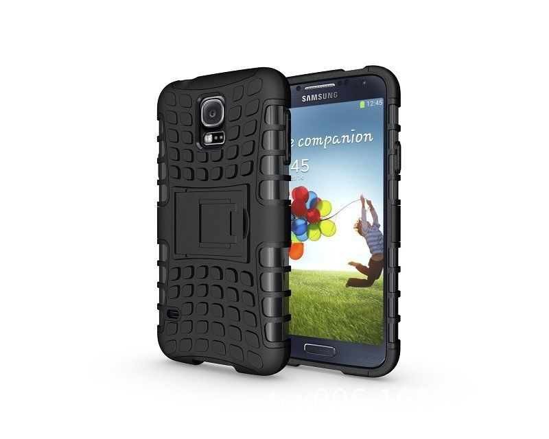 Odolné pouzdro PANZER CASE na mobilní telefon Samsung Galaxy S5 Mini Černé (Odolný kryt či obal na mobil Samsung Galaxy S5 Mini se stojánkem)