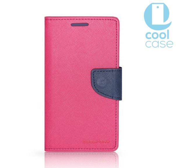 Flipové pouzdro FANCY BOOK Samsung Galaxy S7 RŮŽOVÉ (Flip kryt či obal na mobil Samsung Galaxy S7)