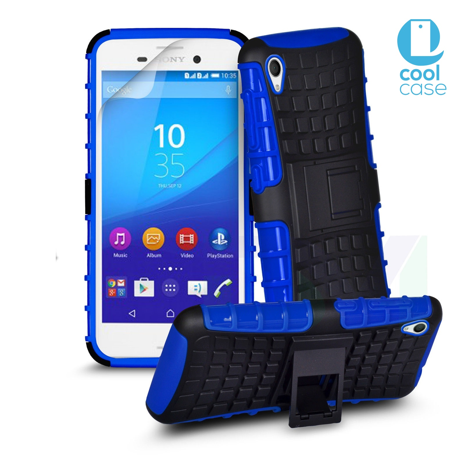 Odolné pouzdro PANZER CASE na mobilní telefon Sony Xperia Z5 Compact Modré (Odolný kryt či obal na mobil Sony Xperia Z5 Compact se stojánkem)
