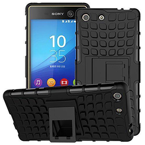 Odolné pouzdro PANZER CASE na mobilní telefon Sony Xperia Z3 Compact černé (Odolný kryt či obal na mobil Sony Xperia Z3 Compact se stojánkem)