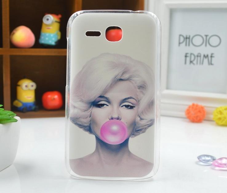 Polykarbonátové plastové pouzdro na mobilní telefon Huawei Ascend Y600 Marilyn Monroe (Pouzdro, kryt či obal na mobil Huawei Ascend Y600)