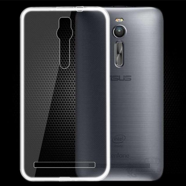 """Silikonové pouzdro 0,3 mm na mobil Asus ZenFone 2 ZE551ML čiré (Kryt či obal na mobilní telefon v průhledném provedení Asus ZenFone 2 ZE551ML / ZE550ML s 5,5 """" displejem)"""