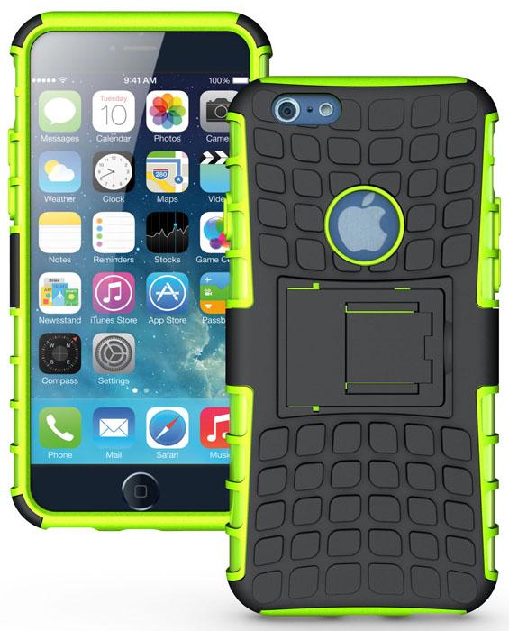 Odolné pouzdro PANZER CASE na mobilní telefon Apple iPhone 6 / 6S ZELENÉ (Odolný kryt či obal na mobil Apple iPhone 6 / 6S se stojánkem)
