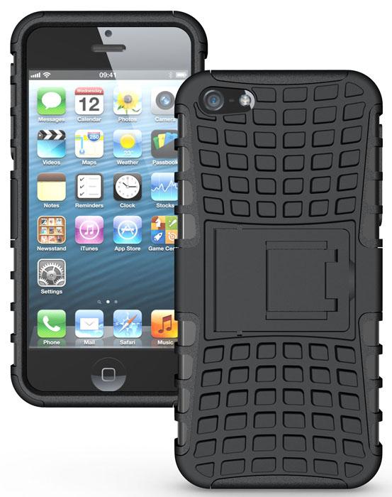 Odolné pouzdro PANZER CASE na mobilní telefon Apple iPhone SE / 5 / 5S černé