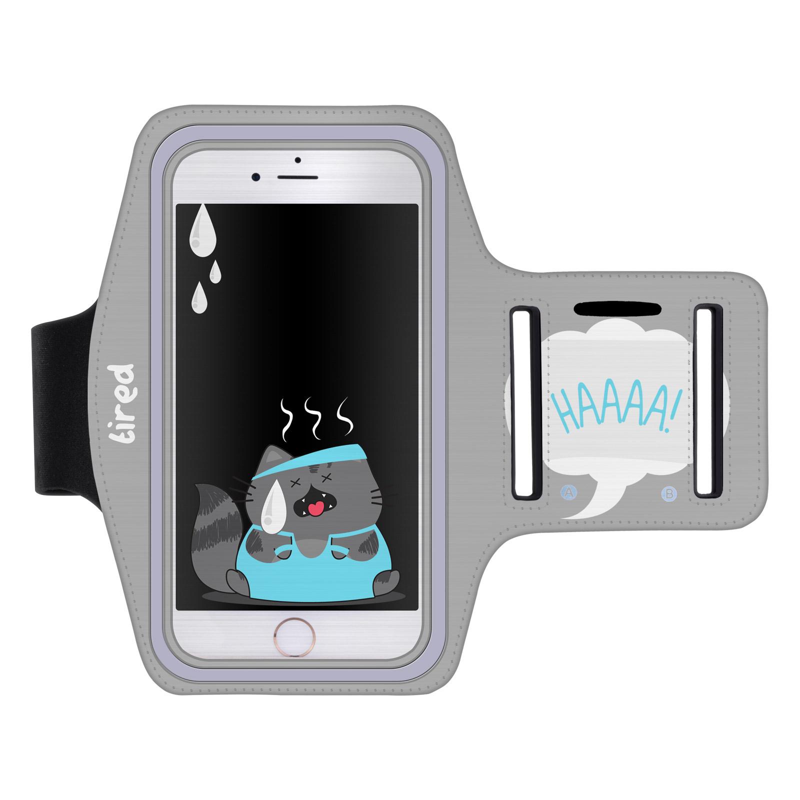"""Sportovní pouzdro na ruku TIRED WILLBUR pro mobily do 5,1"""" S7 / iPhone 6 šedé (Pouzdro na běhání pro mobilní telefony do 5,1 palců)"""