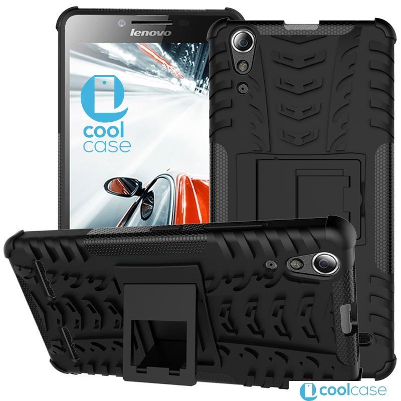 Odolné pouzdro PANZER CASE NEO na mobilní telefon Lenovo A6000 / A6010 Černé (Odolný kryt či obal na mobil Lenovo A6000 / A6010 se stojánkem)