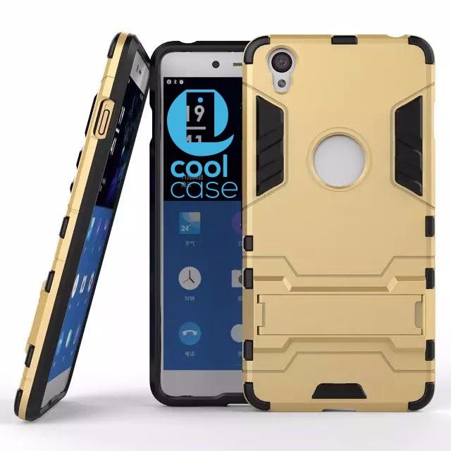 Odolné pouzdro ARMOR SHELL na mobilní telefon OnePlus X Zlatavé (Odolný kryt či obal na mobil OnePlus X se stojánkem)