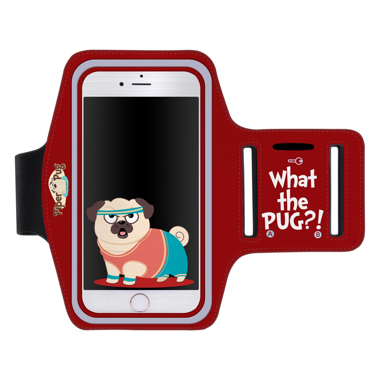 """Sportovní pouzdro na ruku MOPS pro mobily do 5,5"""" iPhone 6 Plus/ S7 Edge červené (Pouzdro na běhání pro mobilní telefony do 5,5 palců)"""