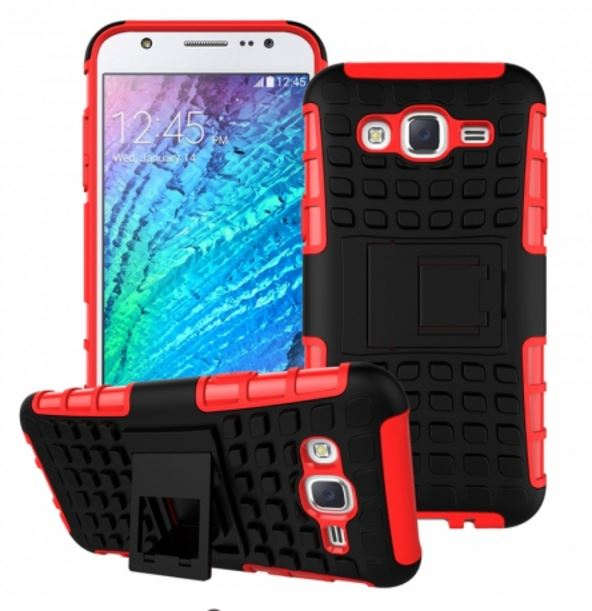 Odolné pouzdro PANZER CASE na mobilní telefon Samsung Galaxy S3 Neo ČERVENÉ (Odolný kryt či obal na mobil Samsung Galaxy S III se stojánkem)