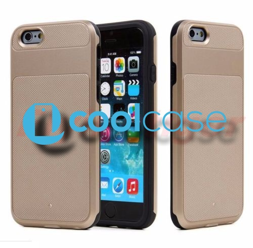 Pevné pouzdro HYBRID CASE na mobilní telefon Apple iPhone 6 / 6S GOLD (Odolný kryt či obal na mobil Apple iPhone 6 / 6S)