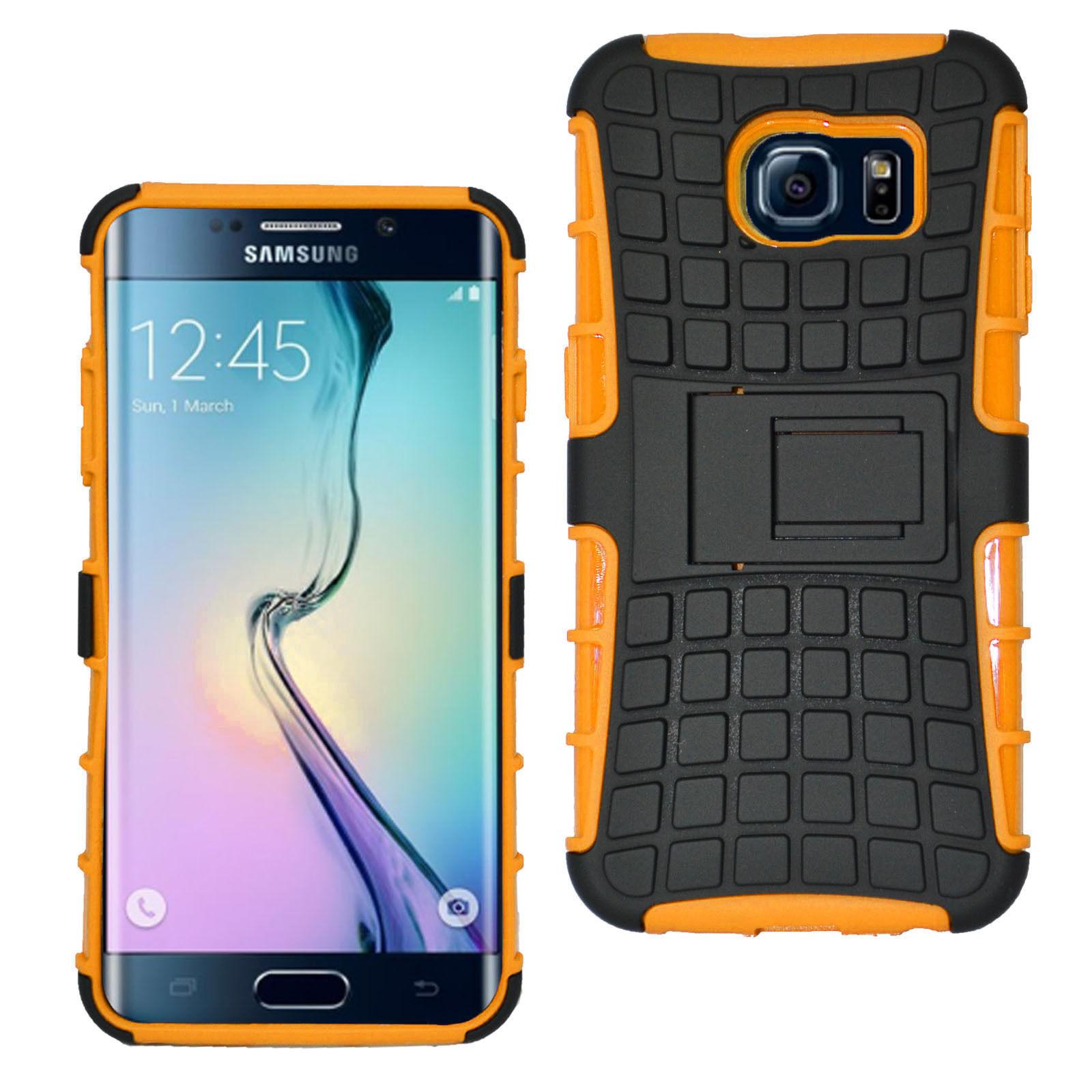 Odolné pouzdro PANZER CASE na mobilní telefon Samsung Galaxy S6 ORANŽOVÉ