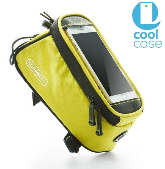 Držák na kolo ROSWHEEL pro mobilní telefony s displejem do 4,8 palců, žlutý (Držák na jízdní kolo pro mobilní telefony pro vášnivé cyklisty)