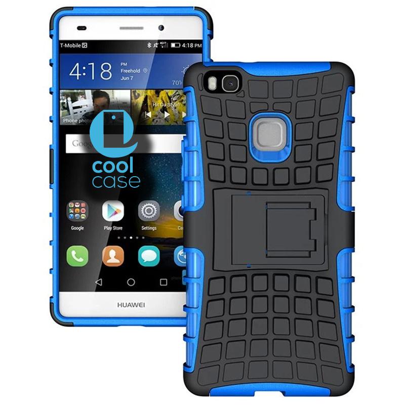 Odolné pouzdro na mobil PANZER CASE na mobilní telefon Huawei P9 Lite Modré (Odolný kryt či obal na mobil Huawei P9 Lite se stojánkem)
