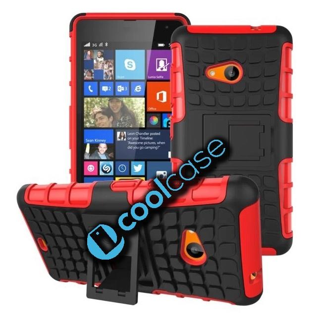 Odolné pouzdro PANZER CASE na mobilní telefon Microsoft Lumia 535 ČERVENÉ