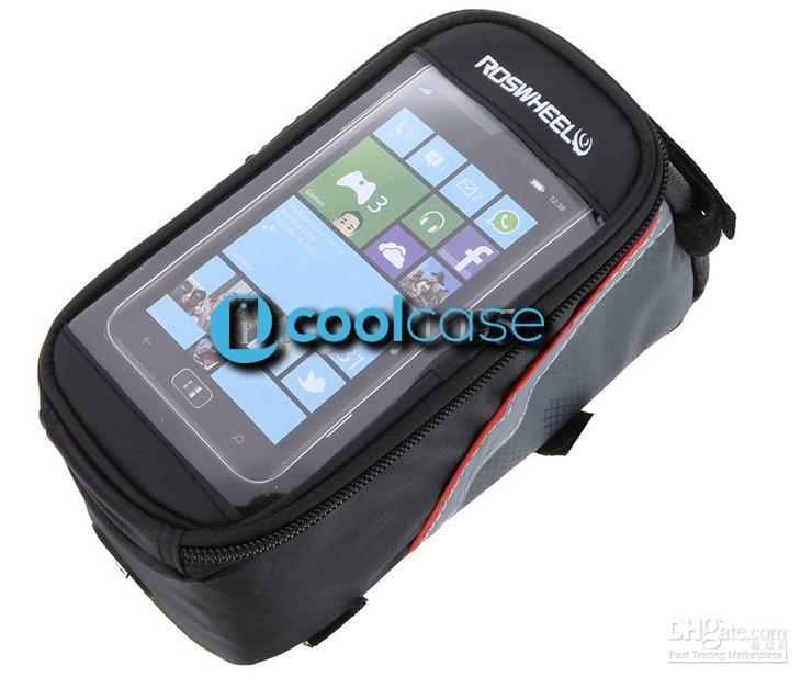Držák na kolo ROSWHEEL pro mobilní telefony s displejem do 5,5 palců, šedo černý (Držák na jízdní kolo pro mobilní telefony pro vášnivé cyklisty)