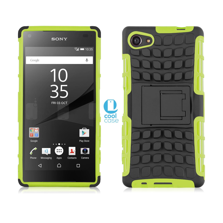 Odolné pouzdro PANZER CASE na mobilní telefon Sony Xperia Z5 Compact Zelené (Odolný kryt či obal na mobil Sony Xperia Z5 Compact se stojánkem)