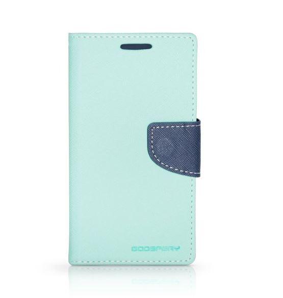Flipové pouzdro FANCY BOOK Samsung Galaxy Grand Prime AZUROVÉ (Flip kryt či obal na mobil Samsung Galaxy Grand Prime)
