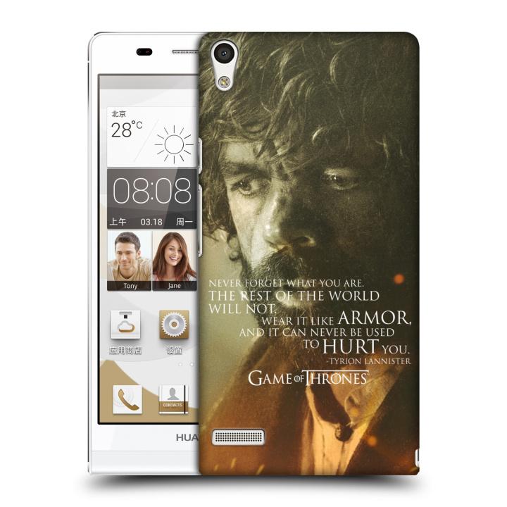 Plastové pouzdro na mobil Huawei Ascend P6 HEAD CASE Hra o trůny - Tyrion Lannister (Plastový kryt či obal na mobilní telefon s licencovaným motivem Hra o trůny - Game Of Thrones pro Huawei Ascend P6)
