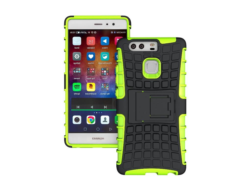Odolné pouzdro na mobil PANZER CASE NEO na mobilní telefon Huawei P9 Zelené (Odolný kryt či obal na mobil Huawei P9 se stojánkem)