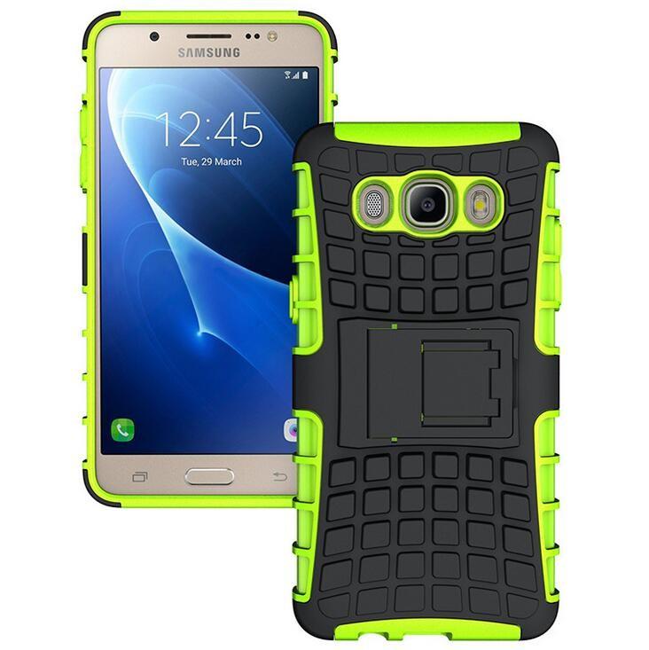 Odolné pouzdro PANZER CASE na mobil Samsung Galaxy J5 (2016) Zelené (Odolný kryt či obal na mobil Samsung Galaxy J5 (2016) se stojánkem)