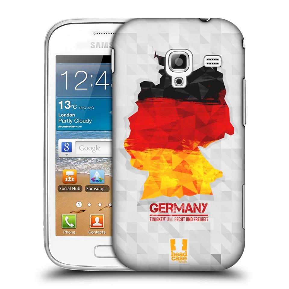 Plastové pouzdro na mobil Samsung Galaxy Ace 2 HEAD CASE Geomapa Neměcko (Kryt či obal na mobilní telefon Samsung Galaxy Ace 2 GT-I8160)