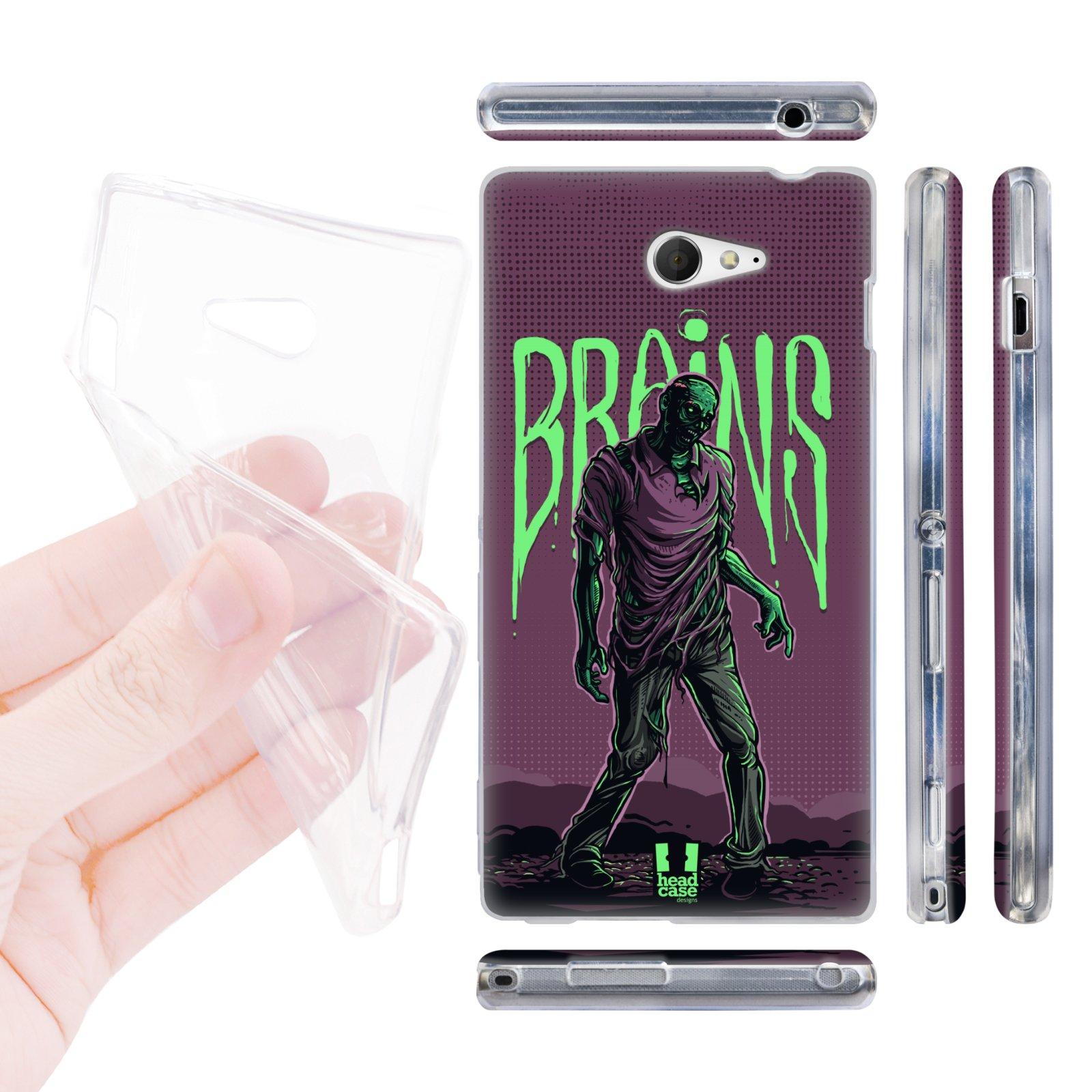 Silikonové pouzdro na mobil Sony Xperia M2 D2303 HEAD CASE ZOMBIE HLEDÁ (Silikonový kryt či obal na mobilní telefon Sony Xperia M2 D2303)