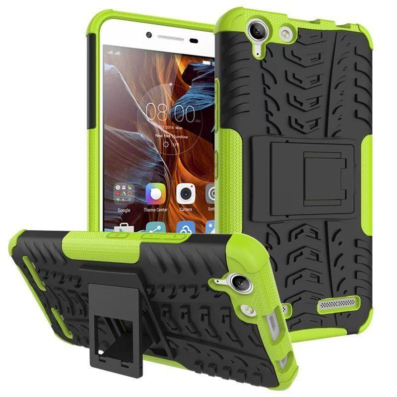 Odolné pouzdro PANZER CASE NEO na mobil Lenovo Vibe K5 / K5 Plus Zelené (Odolný kryt či obal na mobil Lenovo Vibe K5 / K5 PLUS se stojánkem)