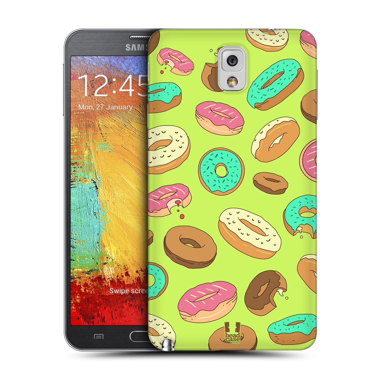 Zadní kryt baterie Samsung Galaxy Note 3 HEAD CASE Donutky všude (Kryt baterie na mobilní telefon Samsung Galaxy Note 3)