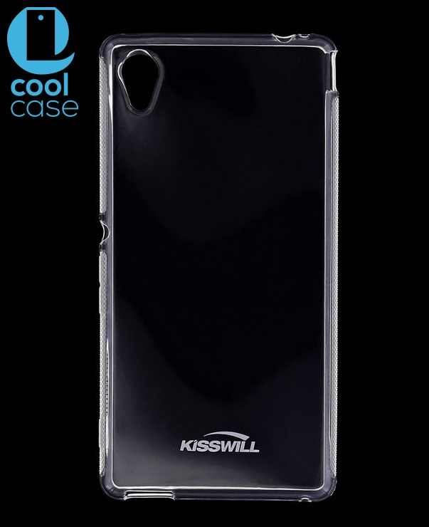Silikonové pouzdro Kisswill pro mobilní telefon Sony Xperia E5 čiré (Silikonový kryt či obal na mobil Sony Xperia E5)