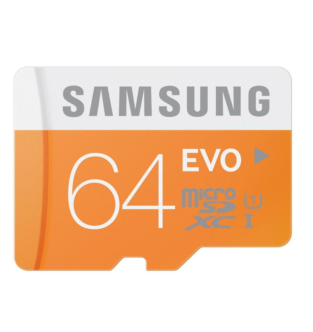 Paměťová karta micro SDHC 64GB EVO Samsung Class 10 (Paměťová karta micro SDHC od firmy Samsung s kapacitou 64GB)
