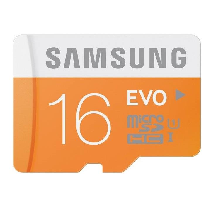 Paměťová karta micro SDHC 16GB EVO Samsung Class 10 (Paměťová karta micro SDHC od firmy Samsung s kapacitou 16GB)