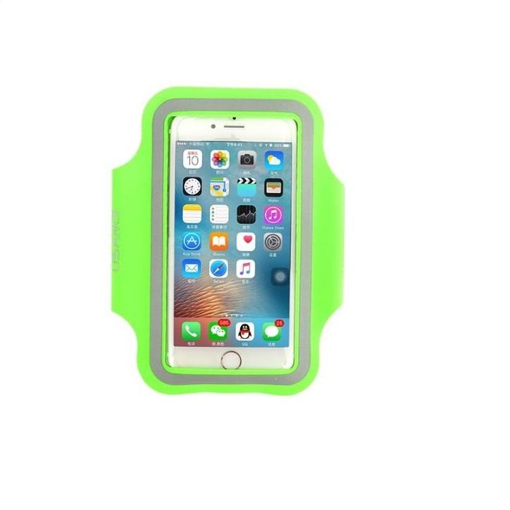 """Sportovní pouzdro na ruku USAMS pro mobily do 5,5"""" iPhone 6 Plus/ S7 EDGE Zelené (Pouzdro na běhání pro mobilní telefony do 5,5 palců)"""