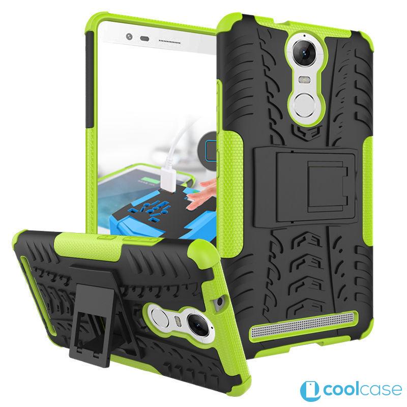 Odolné pouzdro PANZER CASE NEO na mobil Lenovo Vibe K5 Note Zelené (Odolný kryt či obal na mobil Lenovo Vibe K5 NOTE se stojánkem)