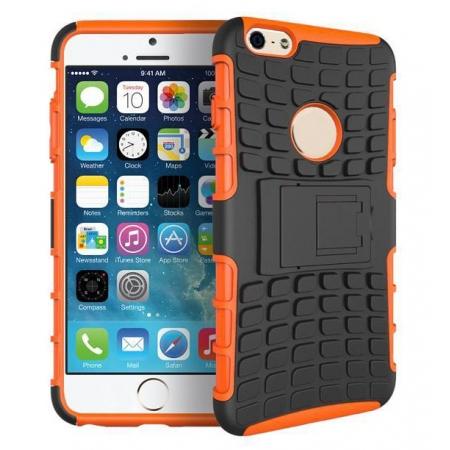Odolné pouzdro PANZER CASE na mobilní telefon Apple iPhone 6 / 6S ORANŽOVÉ (Odolný kryt či obal na mobil Apple iPhone 6 / 6S se stojánkem)