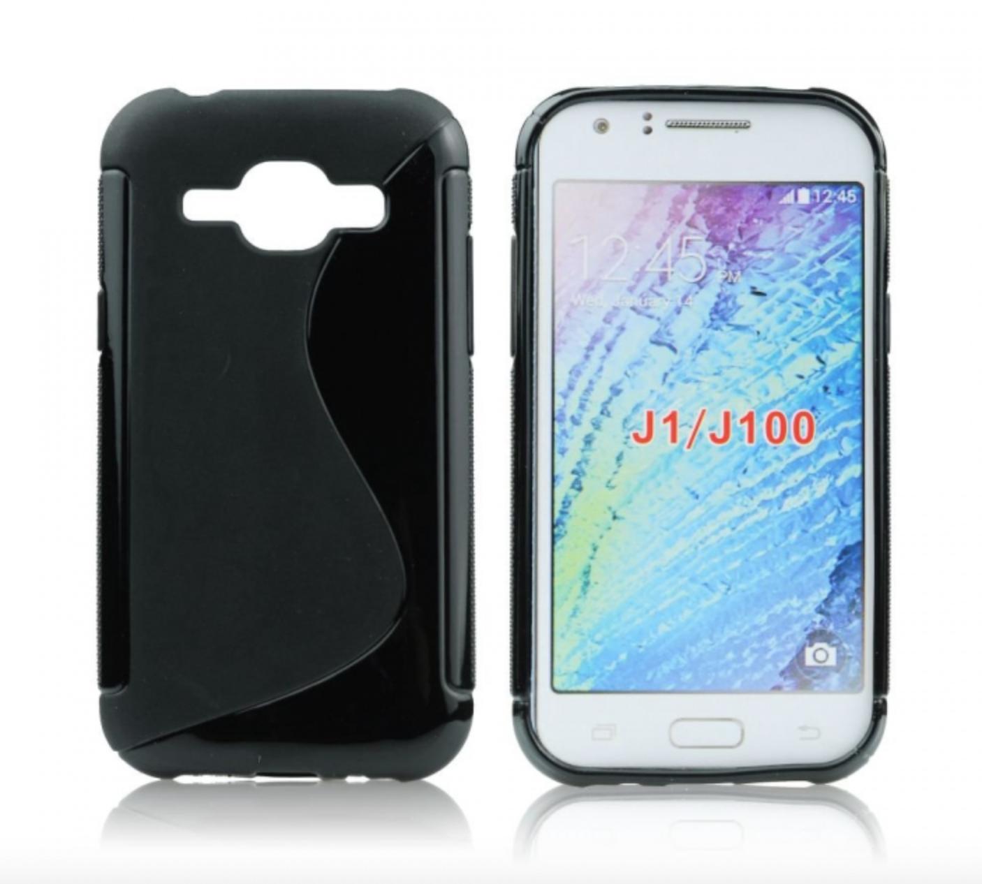 Silikonové pouzdro pro mobilní telefon Samsung Galaxy J1 černé (Silikonový kryt či obal na mobil Samsung Galaxy J1 J100H)