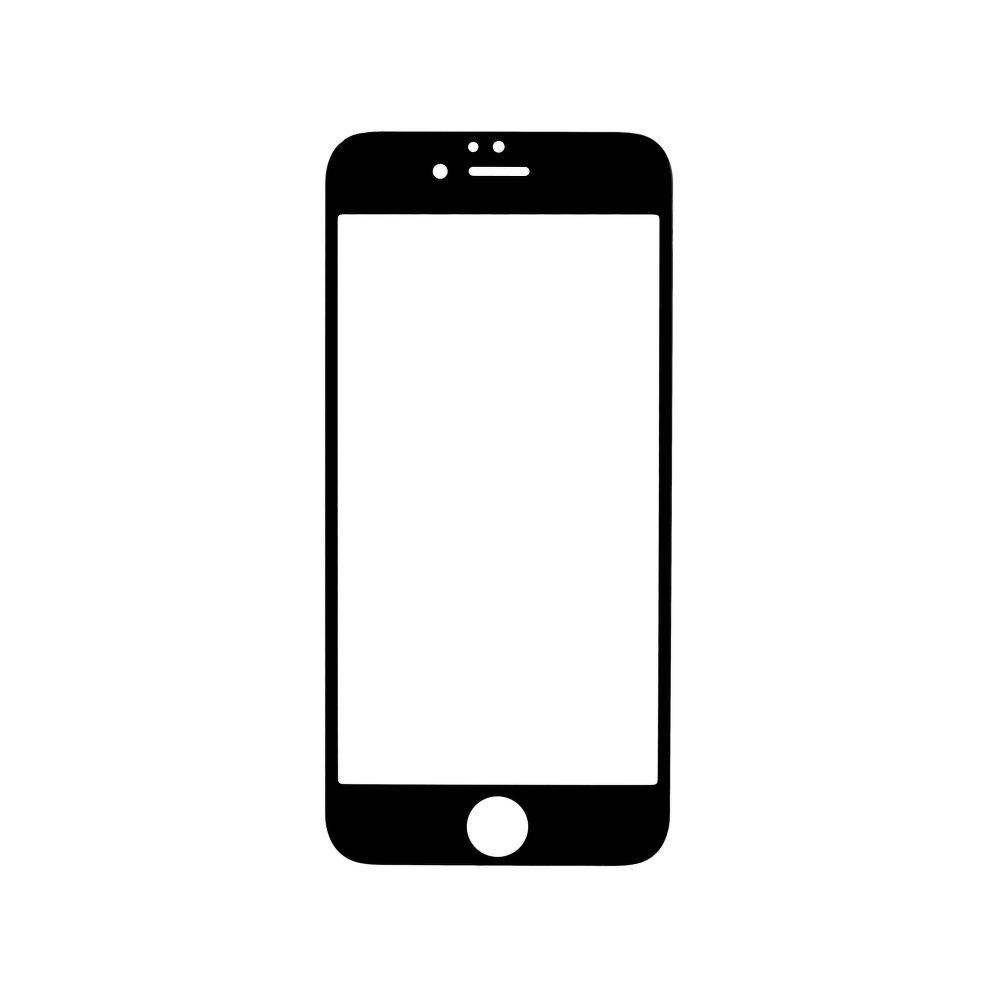 Ochranné tvrzené temperované 3D sklo pro Apple iPhone 6 - ZAHNUTÉ, ČERNÉ
