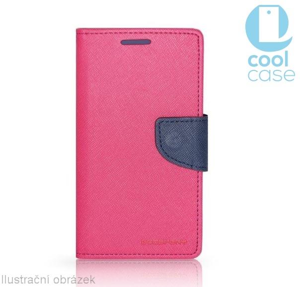 Flipové pouzdro na mobil FANCY BOOK SONY XPERIA M5 RŮŽOVÉ (Flipové knížkové vyklápěcí pouzdro na mobilní telefon Sony Xperia M5)
