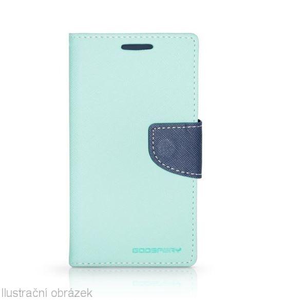 Flipové pouzdro na mobil FANCY BOOK SONY XPERIA M5 AZUROVÉ (Flipové knížkové vyklápěcí pouzdro na mobilní telefon Sony Xperia M5)