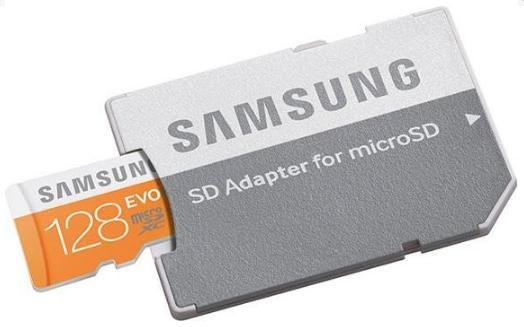Paměťová karta micro SDXC 128GB EVO Samsung Class 10 (Paměťová karta micro SDHC od firmy Samsung s kapacitou 128GB)
