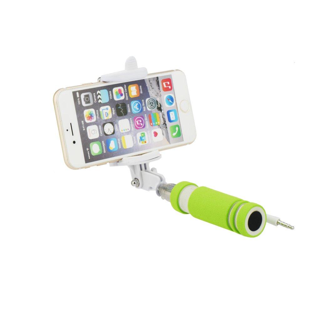 Selfie tyč s ovladáním BLUN MINI pro mobilní telefony ZELENÁ (Selfie tyč s držákem pro mobilní telefony)