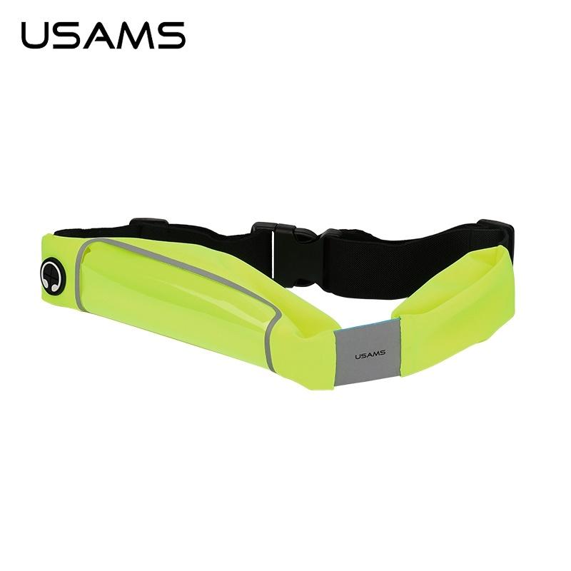 """Sportovní pouzdro na pas USAMS pro mobily do 5,5"""" Zelené (Pouzdro na běhání na pas pro mobilní telefony do 5,5 palců)"""