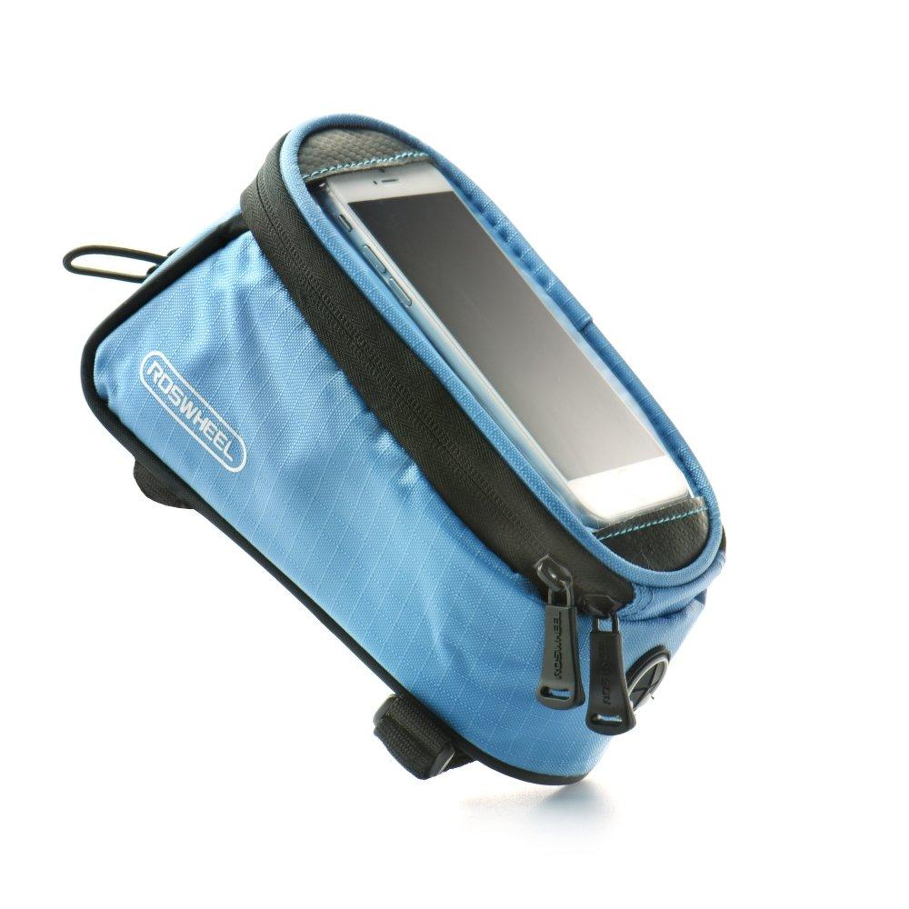 Držák na kolo ROSWHEEL pro mobilní telefony s displejem do 5,5 palců, modrý (Držák na jízdní kolo pro mobilní telefony pro vášnivé cyklisty)
