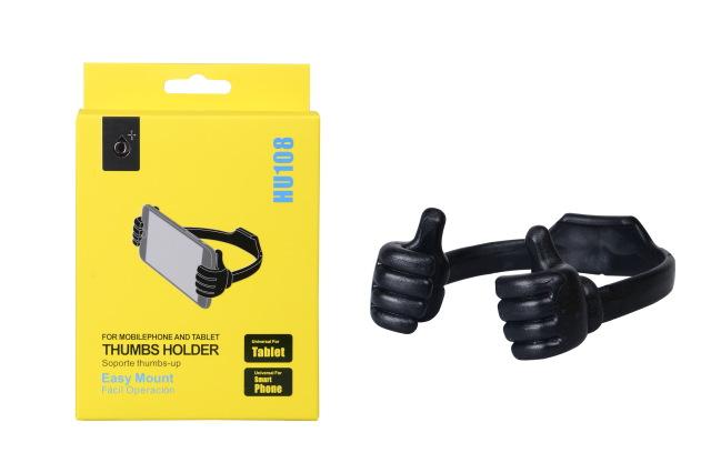Stojánek PLUS HU108 Hands, univerzální černý (Stojánek pro mobilní telefony)