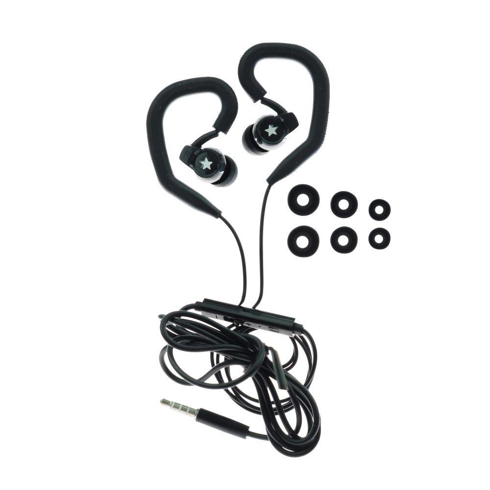 Handsfree sportovní sluchátka do uší BLUE STAR SP-80, 3,5mm jack, černá (Sportovní sluchátka do uší s měkkými koncovkami pro bezproblémový poslech hudby )