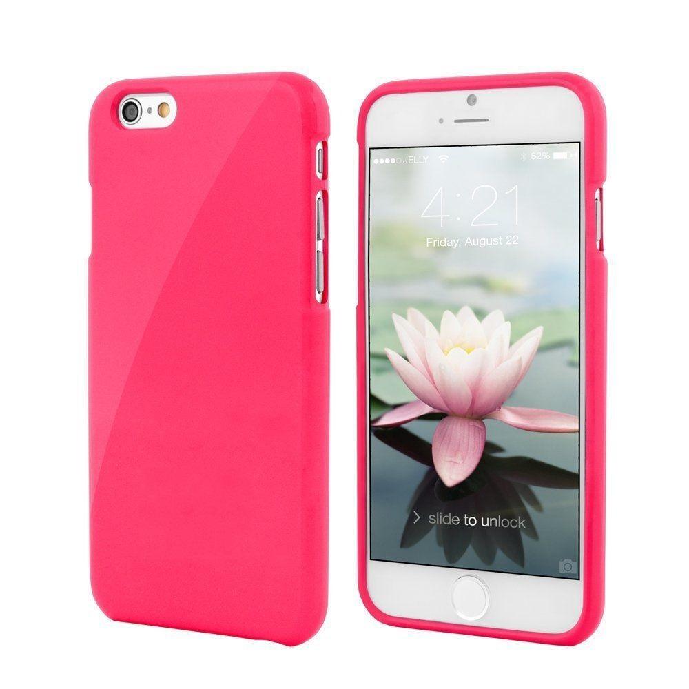 Silikonové pouzdro na mobil Apple iPhone 7 JELLY CASE PINK (Silikonový kryt či obal na mobilní telefon v průhledném provedení Apple iPhone 7)