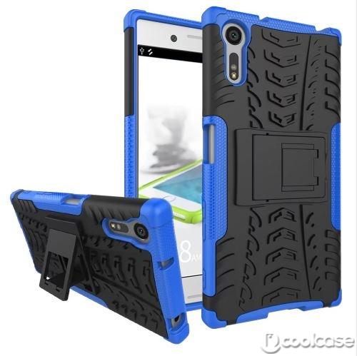Odolné pouzdro PANZER CASE NEO na mobilní telefon Sony Xperia XZ Modré (Odolný kryt či obal na mobil Sony Xperia XZ se stojánkem)