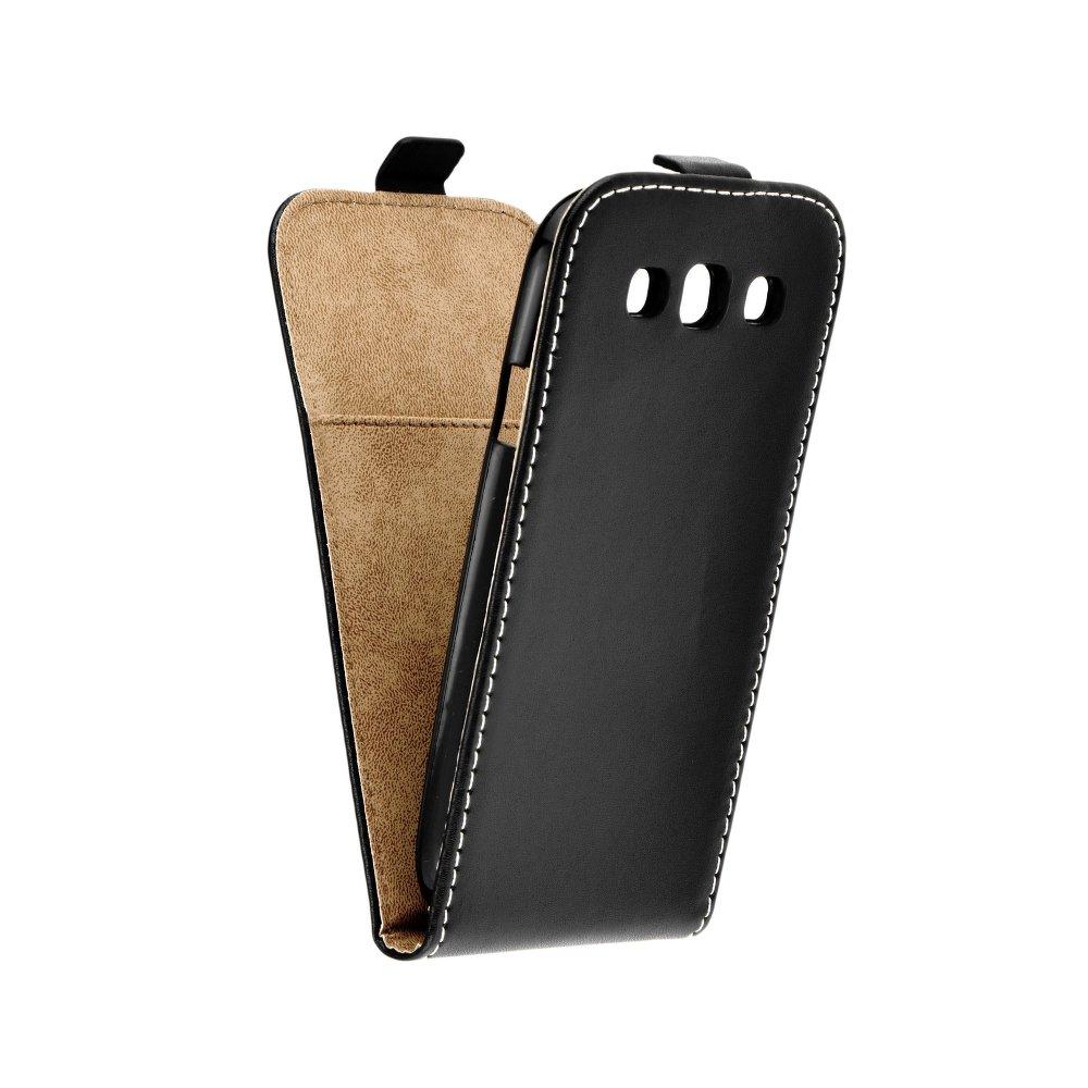 Vertikální flipové pouzdro FLEXI FRESH pro Samsung Galaxy S3 / S3 NEO Černé (Flipové vertikální vyklápěcí pouzdro na mobilní telefon Samsung Galaxy S3)