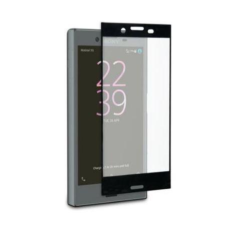 Ochranné tvrzené temperované sklo TMP2169CB Sony Xperia XZ Černé (Tvrzenné ochranné sklo Sony Xperia XZ na celý displej telefonu)
